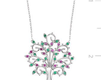 Silver Tree Necklace - IJ1-1172