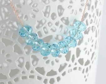Carrie necklace,swarovski necklace,turquoise necklace,beaded necklace,turquoise bridesmaid necklace,turquoise wedding,beach wedding jewelry