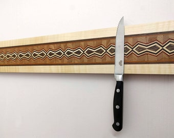 Magnetic Knife Rack, Wooden Knife Organizer, Magnetic Knife Holder, Wall Mounted Knife Holder, Kitchen Accessory, Handmade  Extra Long #1