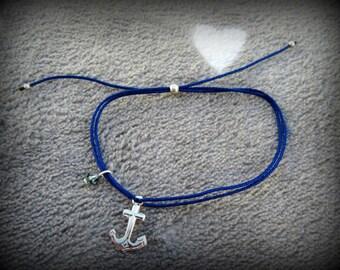 Boat anchor in 925 silver bracelet