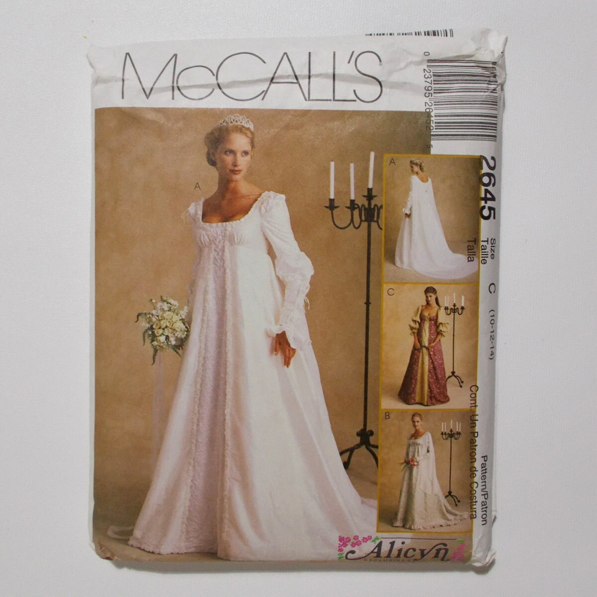 McCalls 2645 Renaissance Bridal Gown Pattern Ren Faire Wedding Theme ...