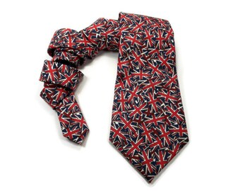 The Union Jack tie, british tie, the union flag tie, british flag tie, england tie, english tie, flag tie, united kingdom tie