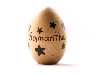 Personalized Easter Egg - Wooden Easter Eggs - Heirloom Wooden Toy - Eco Friendly - Montessori Wooden Eggs - Waldorf Toys