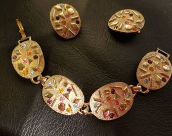 Sara Coventry bracelet and earrings Sultana