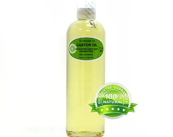 12 Oz  Organic Castor Oil 100% Pure Cold Pressed