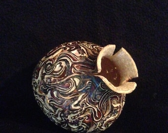 Primitive Abstract Gourd; Very small; Free Shipping