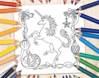 unicorn coloring page printable coloring page unicorn art kids coloring page fantasy - Coloring Page Of A Unicorn