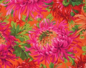 Kaffe Fassett Collective Shaggy Mums Red - 1/2yd