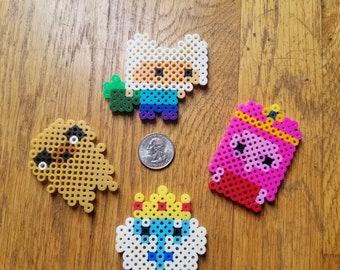 Adventure Time | Finn | Jake | Princess Bubblegum | Ice King | Perler Bead | Fuse Bead | 8bit | Sprite