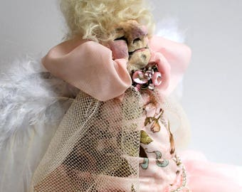 Witchy Poo No. 2 - Edna the Good Witch OOAK handmade crone fairy godmother witch doll