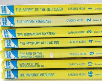 Vintage Nancy Drew Books by Carolyn Keene: Set of Seven