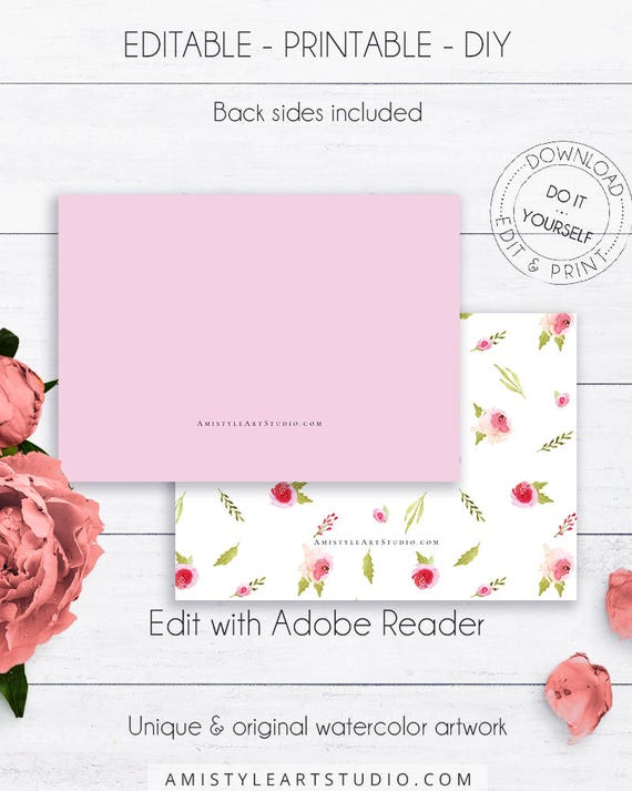 Floral baby shower book request editable diy instead of a floral baby shower book request editable diy instead of a card pdf templates diy baby shower baby books book request girl solutioingenieria Images