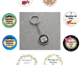 ° ° ° Keychain personalized special christening, wedding ° ° °