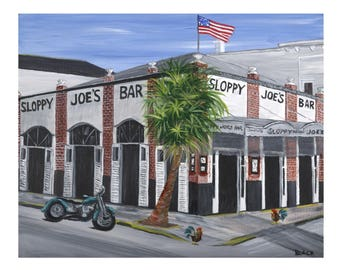 Sloppy Joe's Bar  Print - The most famous bar/restaurant in Key West, FL known for it's great live music all day everyday.