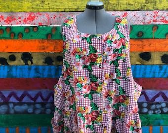 plus size, vintage Lane Bryant overall dress