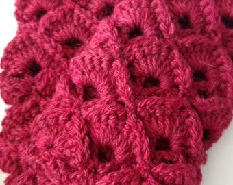 Box stitch wool gloves, short