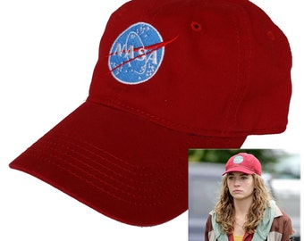 Nasa insignia embroidered red Hat Tomorrowland Casey Newton Halloween Costume baseball cap AH35