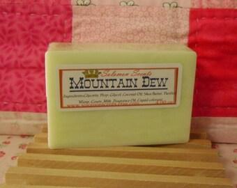 Mountain Dew type Shea Butter & Goats Milk Soap