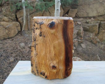 Reclaimed Naturally Weathered Bristlecone Pine Wood Pet Urn / Memorial Keepsake/ 64lb