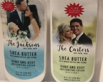Customized Wedding Favors - 8oz Shea Butter Lotion