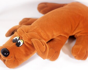"Vintage Cute LARGE 18"" POUND PUPPIES Dog Plush Puppy Red Brown"