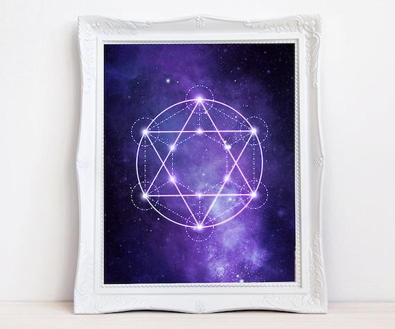Zen poster art sacred geometry, madala print