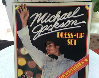 Vintage 1980s King of POP music Musician Michael Jackson colorforms paper doll dress up set new in box 12 deadstock new old box 130