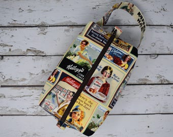 Boxy Project Bag - Vintage Ladies