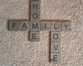 """4""""x4"""" Scrabble Letters"""