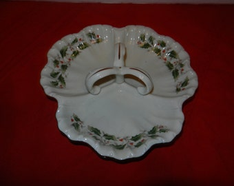 Vintage Royal Limited Holly Holiday Serving Tray