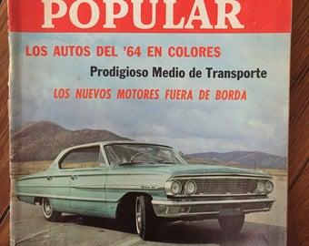 "Magazine ""Mecánica popular"" (Popular Mechanics, latin american edition) 1964"