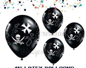 "Pirate Party | PIRATE BIRTHDAY PARTY | Pirate Balloons 11"" Latex 
