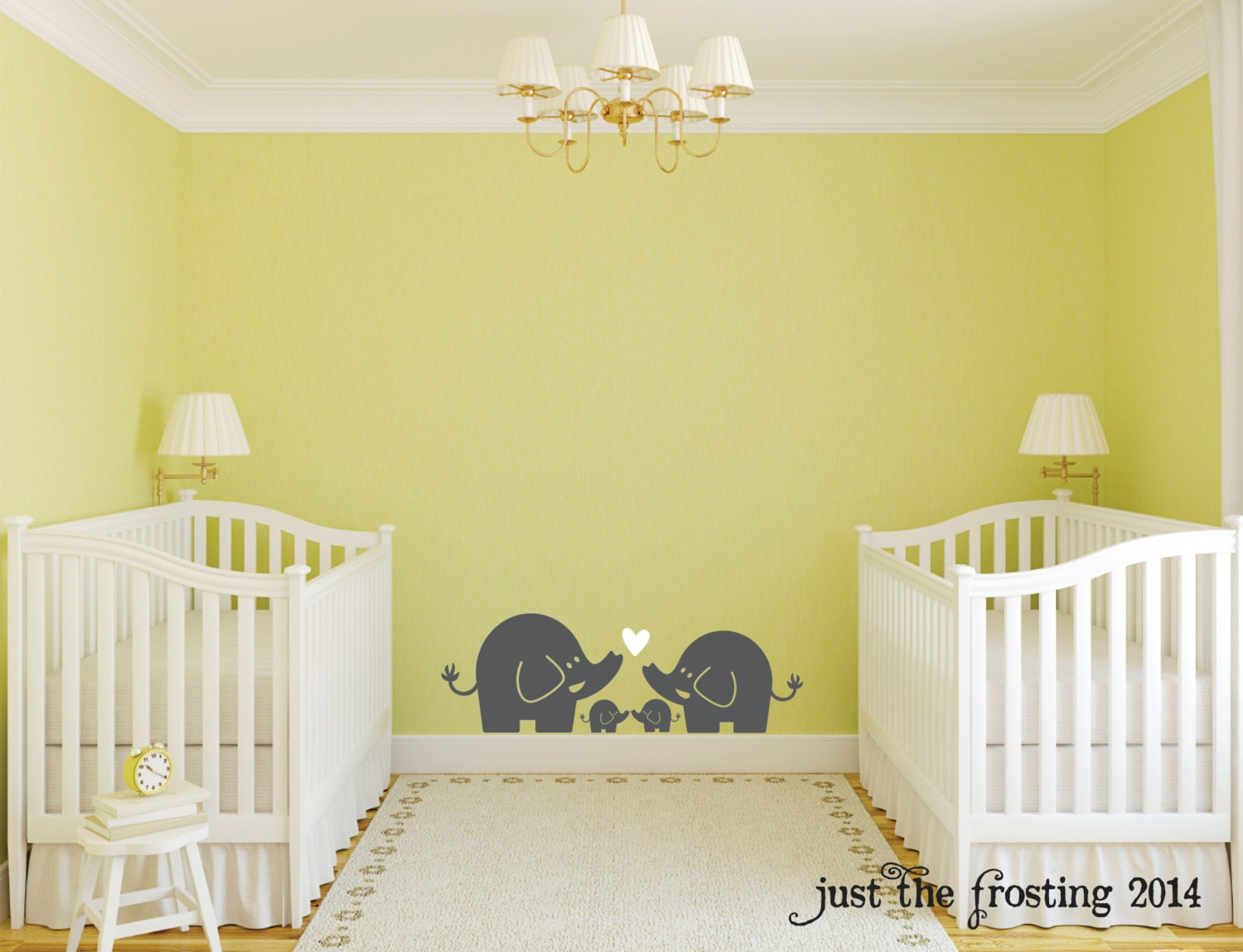Contemporary Twin Nursery Wall Art Image Collection - The Wall Art ...