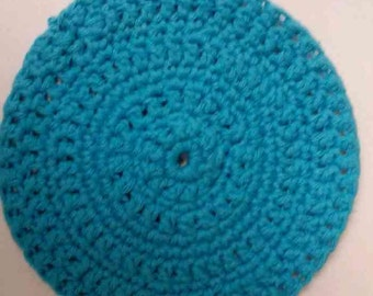 Teal Trivet, Crocheted Hot Pot Pad, For Cooking and Baking, Kitchen Accessory