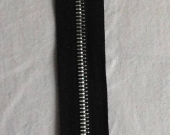 Zipper zip detachable black silver metal sewing notions for sewing notions handmade diy clothing 45 cm