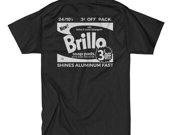 Andy Warhol 'Brillo Box' (Black) T-Shirt