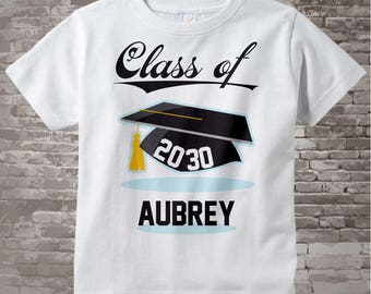 Class of 2030 Future Graduate Shirt, Personalized Graduation Shirt Future Graduation Shirt any year Child's Back To School Shirt 08102015e