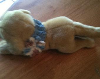 Dog Collar, cat collar, pet collar, crochet, blue, flower, eight inch neck, pets, pet accessories, dogs, cats, pet clothing