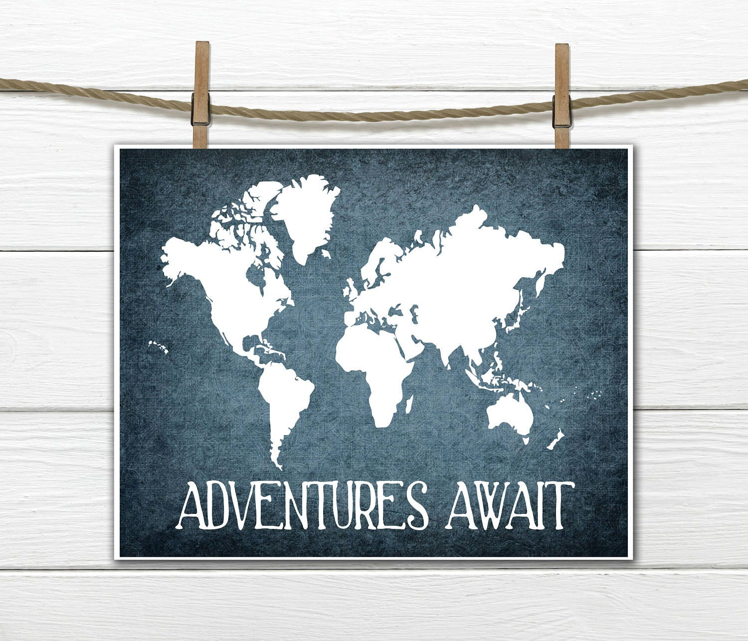 World map print adventure awaits instant download pdf 8x10 gumiabroncs Images