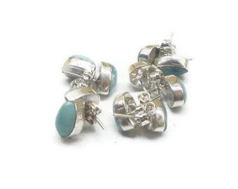 Larimar studs Larimar Earrings Teardrop 1 pair