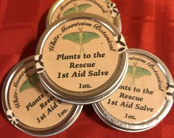 Plants to the Rescue  - 1st Aid Salve - Free Shipping