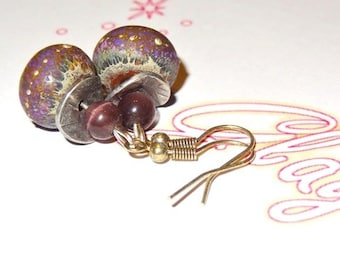 Purple and Brown earrings