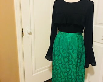 Elegant emerald skirt