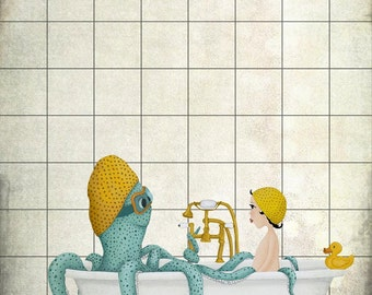 Time for a bath - Art print (3 different sizes)