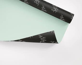 5x Wrapping Paper / Dear Santa