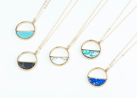Once in a blue moon marble pendants navy blue necklace with aloadofball Images