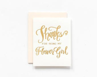 SALE! - Thanks for Being My Flower Girl Greeting Card