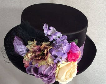 Black Kentucky Derby Top Hat