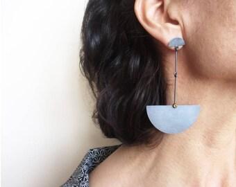 Long Earrings, Oxidized Silver Earrings, Statement Earrings, Geometric Earrings, Citrine Earrings, African Earrings, Contemporary Earring