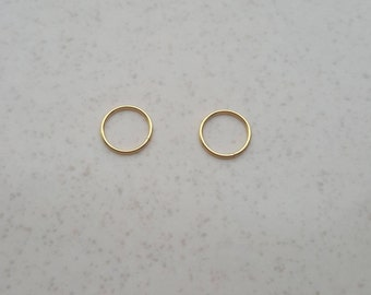 8mm Cartilage Earring, Sterling Silver, Gold Plated Hoop Earring, Endless Hoop Earring, Seamless, Hugging Hoop, Nose , Helix ,Tragus
